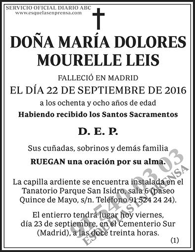 María Dolores Mourelle Leis